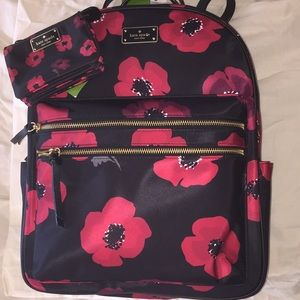 Kate Spade Wilson Road Poppy Large Backpack Wallet